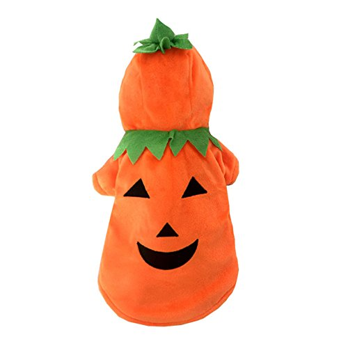 Demiawaking vestiti a forma di zucca del cane abbigliamento costume da halloween pet suit per autunno inverno
