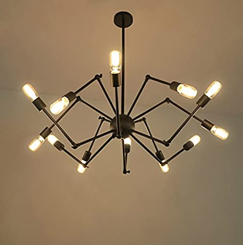 Blyc–Continental Design Creative Personality Interior Lighting Iron Spider Shaped Chandelier