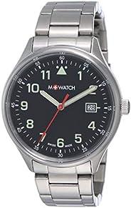 M-WATCH Swiss Made Aero 41 Analog Black Dial Men's Watch-WBL.4022