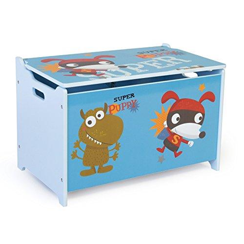 Homestyle4u Spielzeugkiste Schmetterling Spielzeugtruhe, 60x35x38cm - 2