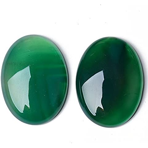 Pacco 6 x Verde Onice 6 x 8mm Cabochon Ovale - (CA17392-1) - Charming Beads