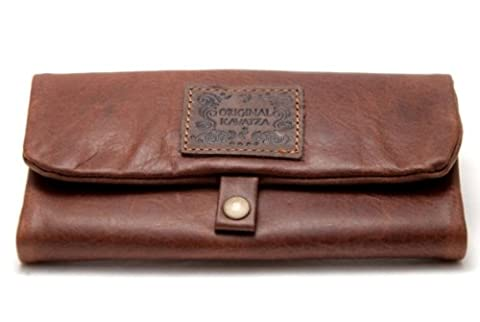 ORIGINAL KAVATZA tobacco pouch Tabba soft leather cognac wood turners small boards pusher pocket P3