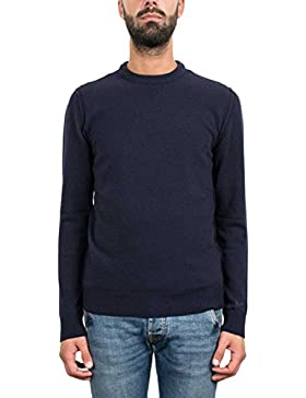 6418V maglione uomo WOOLRICH blue sweater wool men