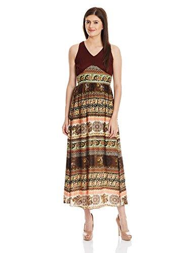 Shakumbhari Women's Rayon Body Con Dress (SW-740_Brown_Medium)  available at amazon for Rs.418