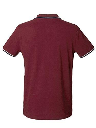 Herren Poloshirt aus Biobaumwolle mit Kontrastreifen, Poloshirt Herren aus Baumwolle (Bio), Polo Shirt Bio, Polohemd Bio, Biohemd, Bio Polohemd, Organic Cotton Burgundy