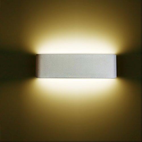 Wohnzimmer Spiegelschrank (12W LED Wandleuchte Wandlampe Minimalistische Up Down Innen mit Moderne Wandbeleuchtung Perfekt für Schlafzimmer,Badezimmer,Badlampe,Wohnzimmer,Spiegelschrank,Badleuchten,Nachttischlampe,Spiegelleucht)
