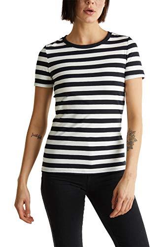 ESPRIT Damen 020EE1K306 T-Shirt, Schwarz (Schwarz 001), S -