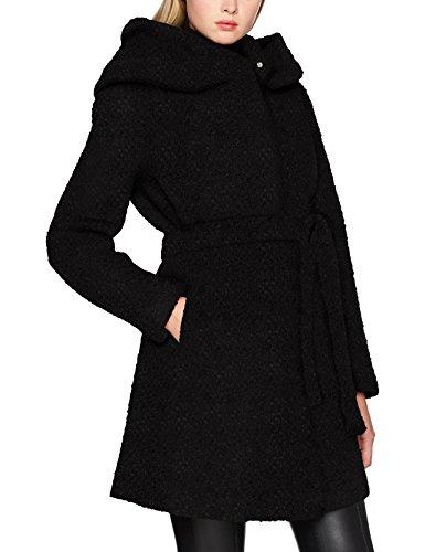 VILA CLOTHES Damen Mantel Vicama New Wool Coat-Noos, Schwarz (Black Black), 34 (Herstellergröße: XS)