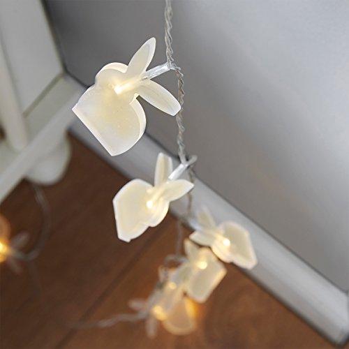 Guirlande Lumineuse 10 Lapins à LED - à Piles - Idéal Déco Chambre Enfants, Bébés - 1,35 Mètre