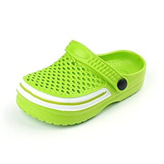 FITORY Kids Sandals Clogs,Boy/Girls Shoes Summer Beach/Pool/Garden Mules for Unisex Children Green