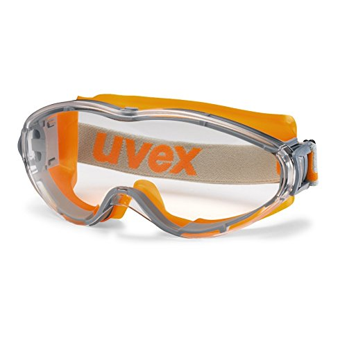 UVEX Vollsicht-Schutzbrille ultrasonic orange-grau