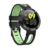 Smartwatch per La Salute E Il Fitness, Cinturino Sportivo Impermeabile Bluetooth Maschio Femmina con Sensore della Frequenza Cardiaca E Sensore di Rilevamento della Nuotata Compatibile