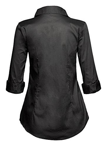 Chemise cintrée classique de la femme coupée stretch Gris