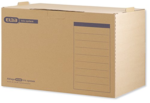 5 Archivboxen ELBA tric system System-Container / 51,0 x 36,0 x 33,0 cm