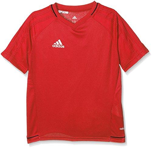 adidas Kinder Tiro 17 T-Shirt, Scarlet/Black/White, 152 (Scarlet T-shirt Kinder)