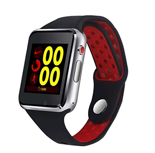 M3 Bluetooth Anti-Sweat Smart Watch With Camera, Facebook, Whatsapp Twitter With Sim Card Slot Sleep Monitoring Better Display Loudspeaker Microphone TouchScreen Smart Watch Calling Supported Smart Watch, Supports All Android (Red)