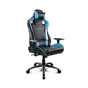 Drift DR400BL – Silla Gaming Profesional, (Polipiel Alta Calidad, Ergonómica), Color Negro/Azul