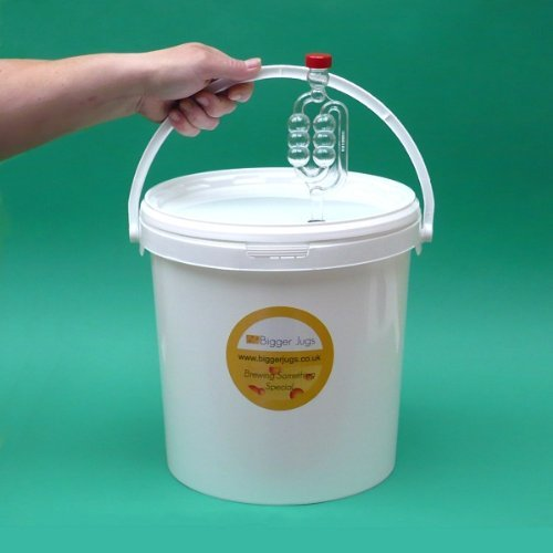 10 Litre Fermentation Vessel / Bucket / Bin + airlock by Bigger Jugs