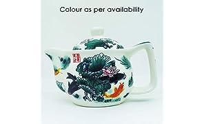 TGL Co. LUXURY TEAS Ceramic Tea Pot, Blue (500 ml)