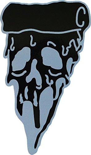 visarn Pizza Skull (Schwarz) size2.25X 10,2cm Biker Heavy Metal Horror Goth Punk Emo Rock DIY Logo Aufkleber für Auto Fenster Bumper Laptop Sticker Decals Geschenk