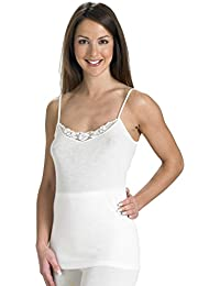 Slenderella Natural Luxury Wool and Silk Cream Cami Top UW950