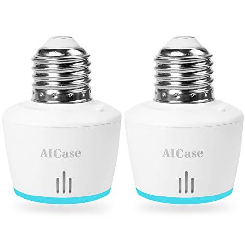 Smart Wifi E27-Casquillo de luz inteligente AICASE Wlan 2 unidades para mando a distancia de casa...