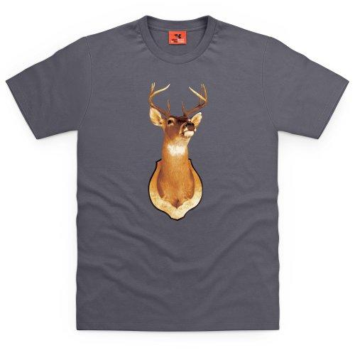 Stag T-Shirt, Herren Anthrazit