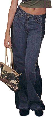 ans Marlenehose Damen Jeans weites Bein Deutsche Gr. 34 (keine inch-Grösse) (Damen Weites Bein Jeans Größe 14)