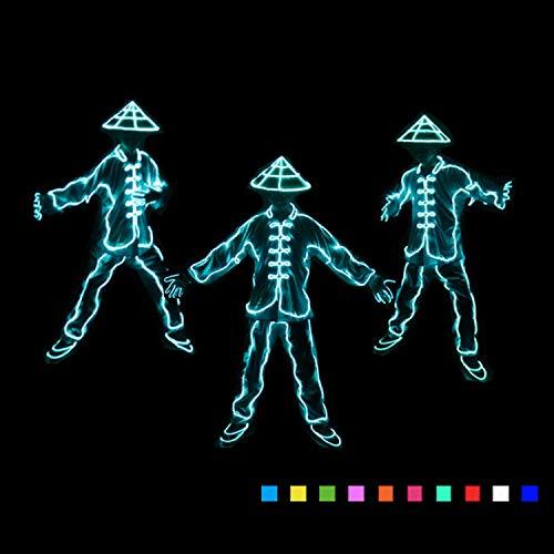 t, LED Kaltlicht, Kostüm Dekor Licht, Mit Controller, Für Tanzparty, Bar, Glow Rave Kostüm, Atmosphäre ()