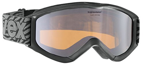 Uvex Kinder Skibrille Speedy Super Pro black/silver mirror goldlite