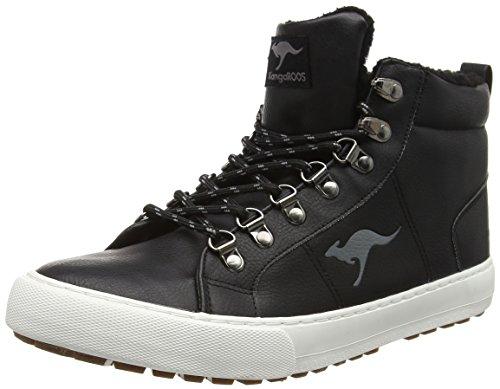 KangaROOS Unisex-Kinder K-Glitter Hohe Sneaker, Grau (Steel Grey), 31 EU