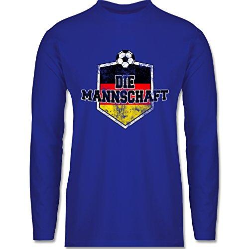 EM 2016 - Frankreich - Deutschland- Die Mannschaft Vintage - Longsleeve / langärmeliges T-Shirt für Herren Royalblau