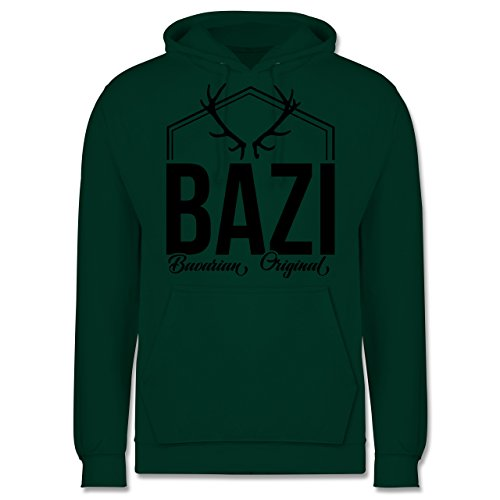 Bayern Männer - Bazi - Original Bavarian - JH001 Herren Kapuzen Pullover Dunkelgrün
