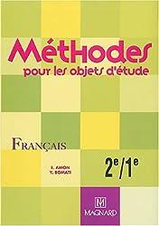 Méthodes pour les objets d'étude : Français, 2e-1e