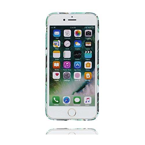 """iPhone 6 Plus Coque Case, iPhone 6 Plus /6S Plus Étui 5.5"""",   TPU Durable Fleur Shell Pour les filles filles   Soft Gel Rubber/ Cover / Léger/ Multiflora Rose Feuilles de banane"""