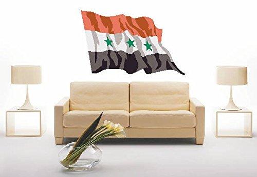 INDIGOS UG - WANDTATTOO / Wandsticker / Wandaufkleber / Aufkleber ls71 Iraq - Irak 40 cm farbig / bunt als Fahne (Blumen Aus Dem Irak)
