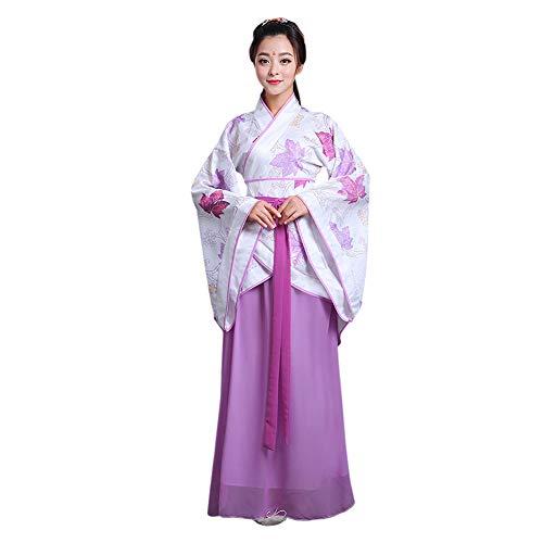 Xinvivion Hanfu Kleid für Damen - Uralt Chinesischer Stil Tang Anzug Prinzessin Chaise Kleid Performance Kostüm