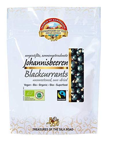 Bio Johannisbeeren schwarz 700g sonnengetrocknet, roh, aus Usbekistan ungesüsst, ungeschwefelt, naturbelassen, Rohkost 7x100g Vorteilspackung -