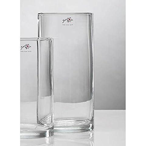 Glasvase Vase Glas Blumenvase Tischvase Zylinder 25 cm