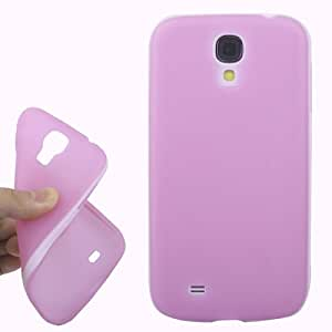 2-color Series Translucent Frosted TPU Case for Samsung Galaxy S4 i9500 in Light Purple + White