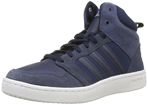 Adidas cf super hoops mid, sneaker a collo alto uomo, blu collegiate navy/raw grey, 46 eu