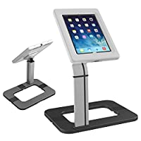 Maclean Lockable Tablet Desk Mount Stand Secure Anti Theft Holder Universal Desk Tablet Stand for Public Displays Lock Anti Theft iPad Samsung (MC-644)