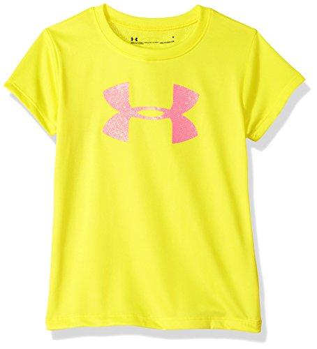 Under Armour Girls' Big Logo T-Shirt, Tokyo Lemon, 24M (24 Monat Under Armour)