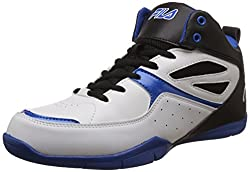 Fila Mens Darbo White, Black and Royal Blue Basketball Shoes - 8 UK/India (42 EU)