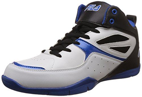 Fila Men's Darbo White, Black and Royal Blue Basketball Shoes - 9 UK/India (43 EU)