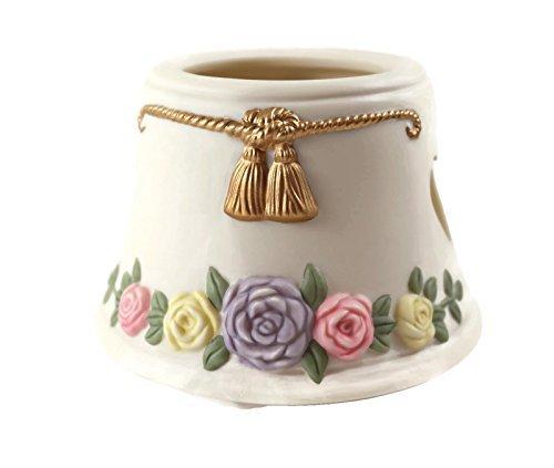 English Garden Pastell Blumen Porzellan Lampe für kleine Jar Kerze -