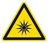 Warnzeichen - Warnung vor optischer Strahlung - Aluminium - 10 x 10 cm