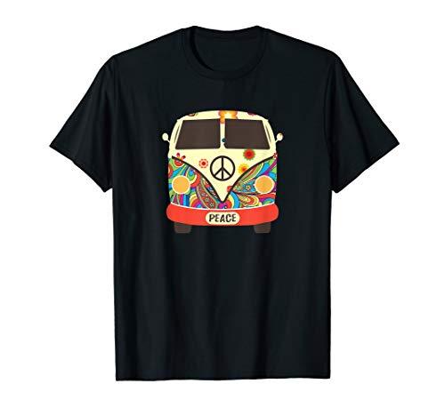 Hippie-Hippie-Friedensweinlese-Retro Kostüm-Hippie-Geschenk T-Shirt (Road Trip Kostüm)