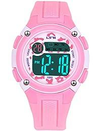 Kids Digital Watch, Functional Waterproof Boys Watch Girls Watch with Time, Date, Week, Backlight, Alarm, Stopwatch Digital Watch for Children