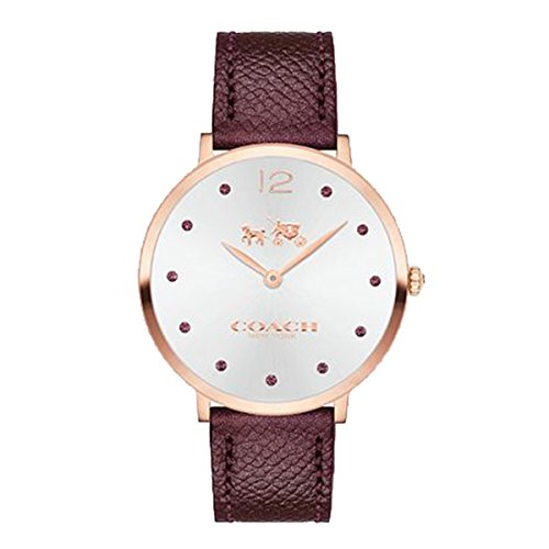 Silver Dial Ladies Analog Casual Quartz Coach Watch Slim Easton 14502694